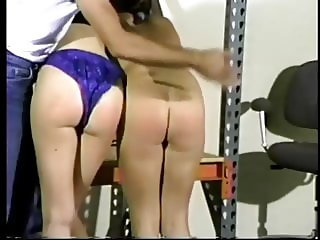 blue panties spanking wedgie