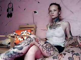 Beautiful extreme tattoo girl!!