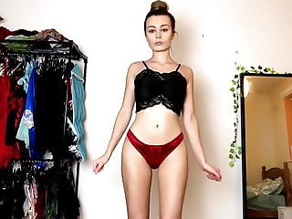 LINGERIE TRY ON HAUL  MY FAVOURITES PANTIES BIELIZNA