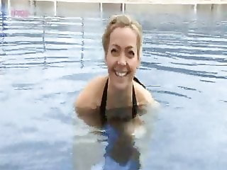 Cherry Healey skinny dipping