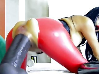 Asian huge Dildo fuck