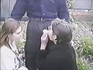 two ukrainian girls fuck in nature