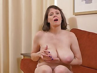 Mature mother with HUGE natural tits and hungry cunt