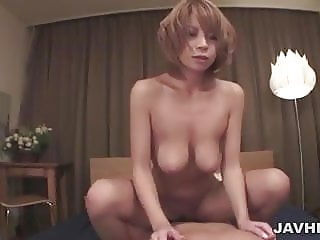 Sumire Matsus big tits squeezed before her pussy is