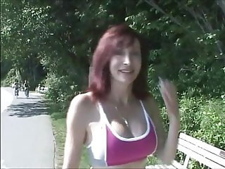 Hot Cougar Jogging Then We Fucked Together In Public Park