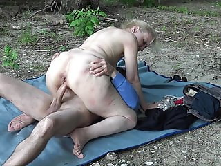 Grandma fucked by horny stepson