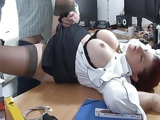 big tits redhead fucked at the office