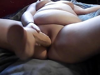 PAWG wife loves fucking her big dildo