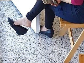 Candid Dangling at  work  cute teen