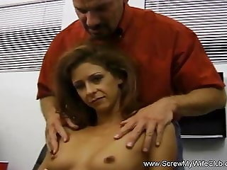 Latina Housewife Learns To Swing