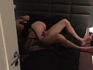 Norwegian hotwife fucks lover, hubby watches from other room