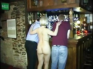 Dad & son feel up tits & cunt in the pub