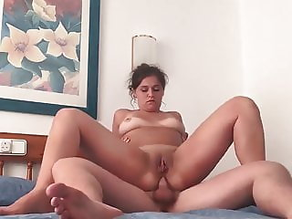 Holiday pussy and anal fuck. Amateur couple