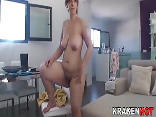 Wife homemade blowjob cum real part 2