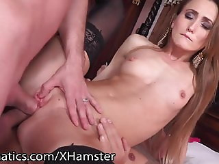 DPFanatics Ukrainian Kira Parvati Likes it in 2 Holes