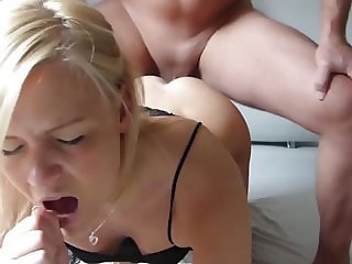 German Busty Blonde Gets Big Cock In Anal!