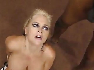 Blond Milf interracial Gangbang