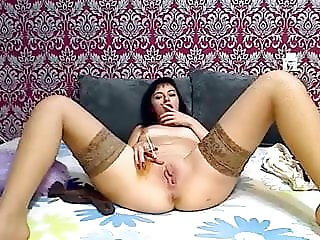 Smoking fetish petite smokes on cam