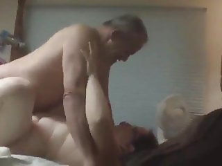 Grandpa with chubby mature woman