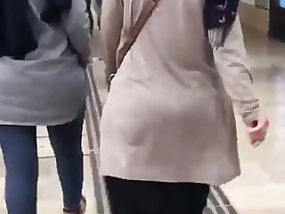 turkish hijab turbanli milf jiggle ass 9
