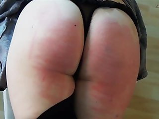 Clip 9Lil Paddled and caned for not cleaning the room - DS