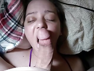 Sexy Hot Wife Lexi Sucking and Teasing On Hubby's Hard Cock