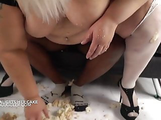 SSBBW Crystal Blue caked and fucked