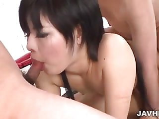 Thick cocks servicing Sayuri horny needs properly