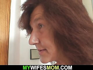 Very old mom in law rides her husband's cock