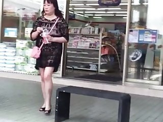 Taiwan MILF in see thru dress