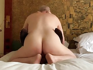 Mature couple simple hotel fuck