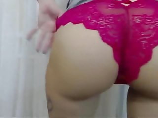 Wife In Pink Panties Ready for the First Anal sex!