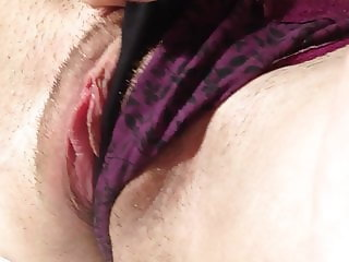 Clit rubbing and panties masturbation