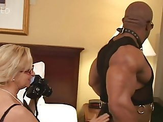 Annabelle Brady, white granny fucked by black bodybuilder
