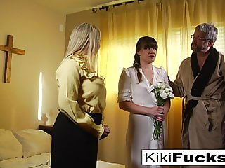 New sister wife joins the family by blowing her new husband