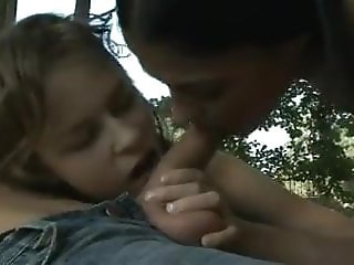 2 girls and 1 boy sucking and licking