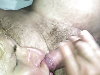 Moaning cumming slut wife facialized