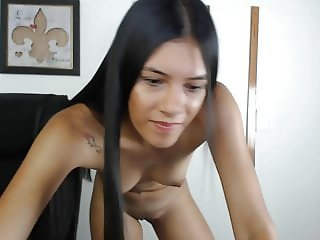 Pretty Columbian Teen Strips Pink Panties