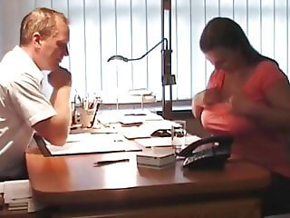 Hot BBW with Big Saggy Tits Fucked Nice in Office