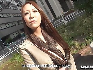 Japanese pornstar, Akari Asayiri is pampering an amateur guy