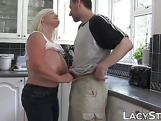 British GILF bent over and slammed until facial time