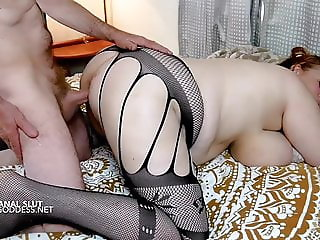 Big boobs Anal Queen in sexy nylons