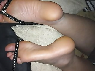 Ally takes more cum on her flip flops