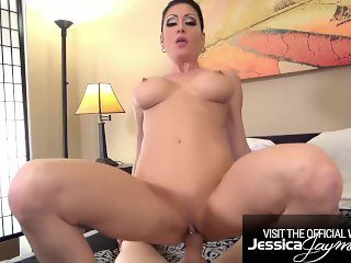 Hot MILF Jessica Jaymes punished by a monster cock
