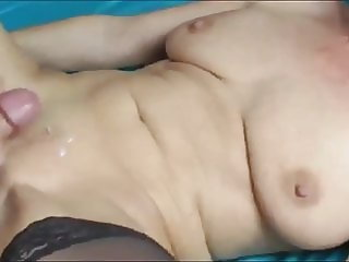 Naughty Busty Mature MILF  with Inexperienced Shy Young Boy