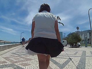 Windy upskirts