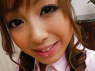 Japanese sweety, Anri Hoshizaki is giving a great blowjob, u