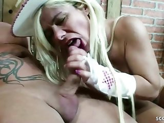 FARMER fucks German BIG TITS MILF Nadja Summer in Straw