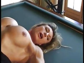Muscular MILF screwed on the pool table