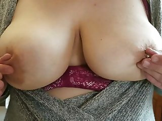 Wife Flashing Big Natural Tits